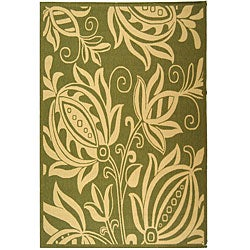 Safavieh Andros Olive Green/ Natural Indoor/ Outdoor Rug (9' x 12')