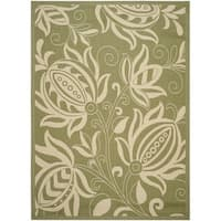 Safavieh Andros Olive Green/ Natural Indoor/ Outdoor Rug - 9' x 12'