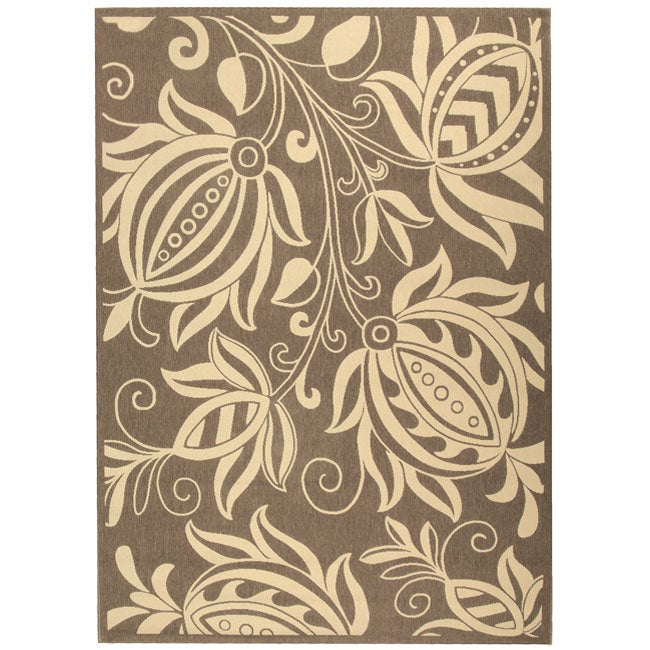 Safavieh Andros Brown/ Natural Indoor/ Outdoor Rug (4' x 5'7)