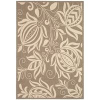 Safavieh Andros Brown/ Natural Indoor/ Outdoor Rug - 4' x 5'-7""