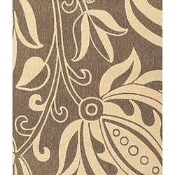 Safavieh Andros Brown/ Natural Indoor/ Outdoor Rug (8' x 11') - Thumbnail 2