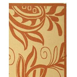 Safavieh Andros Natural/ Terracotta Indoor/ Outdoor Rug (9' x 12') - Thumbnail 1