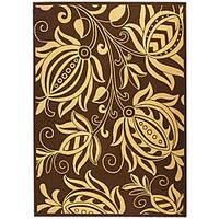 Safavieh Andros Chocolate/ Natural Indoor/ Outdoor Rug - 9' x 12'