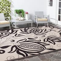 Safavieh Andros Sand/ Black Indoor/ Outdoor Rug - 9' x 12'