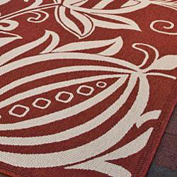Safavieh Andros Red/ Natural Indoor/ Outdoor Rug (9' x 12')