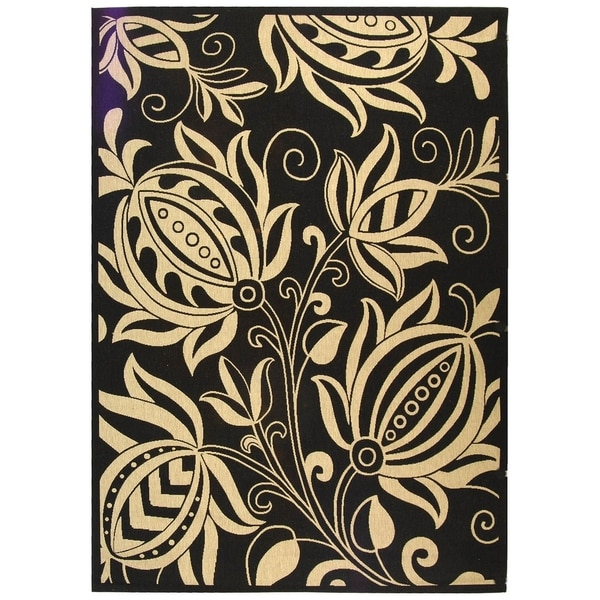 Safavieh Andros Black/ Sand Indoor/ Outdoor Rug - 9' x 12'