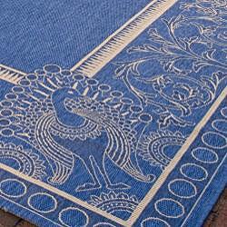Safavieh Indoor/ Outdoor Abaco Blue/ Natural Rug (9' x 12')