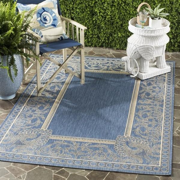 Safavieh Abaco Blue/ Natural Indoor/ Outdoor Rug (9' x 12')