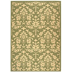 "Safavieh Seaview Olive Green/ Natural Indoor/ Outdoor Rug - 5'3"" x 7'7"" - Thumbnail 0"