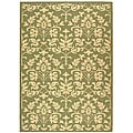 "Safavieh Seaview Olive Green/ Natural Indoor/ Outdoor Rug - 5'3"" x 7'7"""