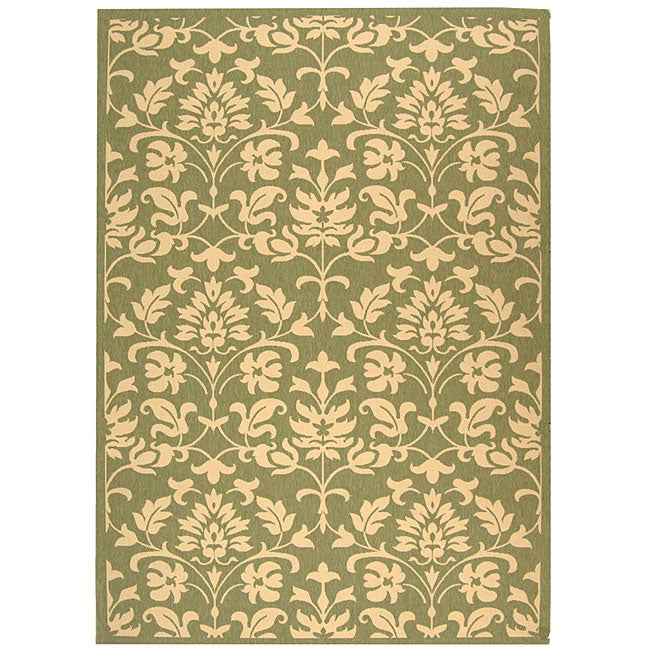 Safavieh Indoor/ Outdoor Seaview Olive/ Natural Rug (2'7 x 5')