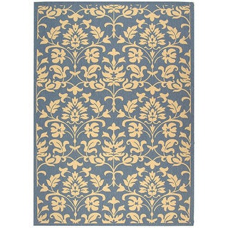 Safavieh Seaview Blue/ Natural Indoor/ Outdoor Rug - 5'3 x 7'7
