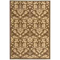 Safavieh Seaview Chocolate/ Natural Indoor/ Outdoor Rug (2'7 x 5') - 2'7 x 5'