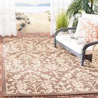Safavieh Seaview Chocolate/ Natural Indoor/ Outdoor Rug (8' x 11')