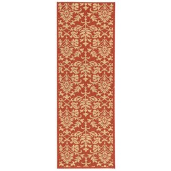 Safavieh Seaview Red/ Natural Indoor/ Outdoor Runner (2'4 x 6'7)
