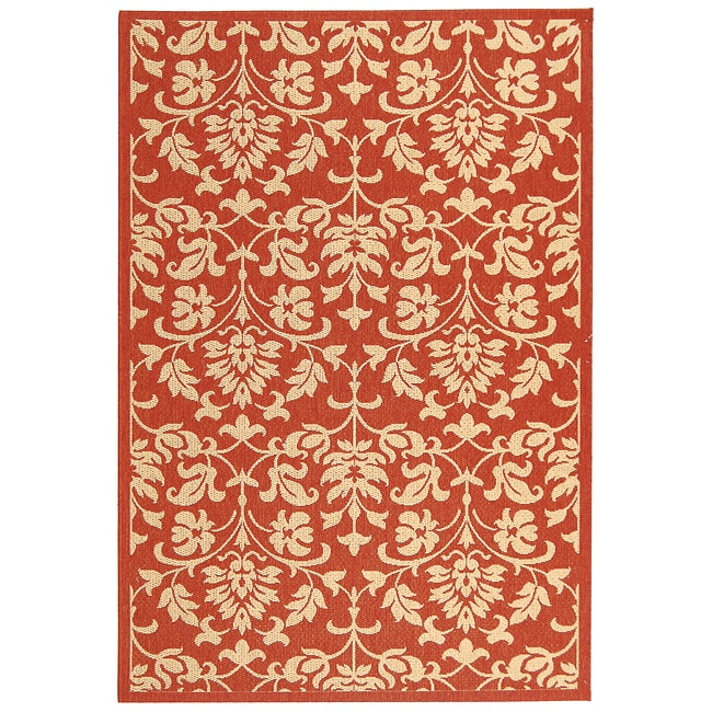 Safavieh Seaview Red/ Natural Indoor/ Outdoor Rug (2'7 x 5')