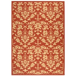 Safavieh Seaview Red/ Natural Indoor/ Outdoor Rug (5'3 x 7'7)