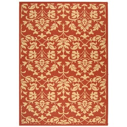 Safavieh Seaview Red/ Natural Indoor/ Outdoor Rug (8' x 11')