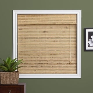 Arlo Blinds Petite Rustique Bamboo Roman Shade with 98 Inch Height - 29w x98h inches