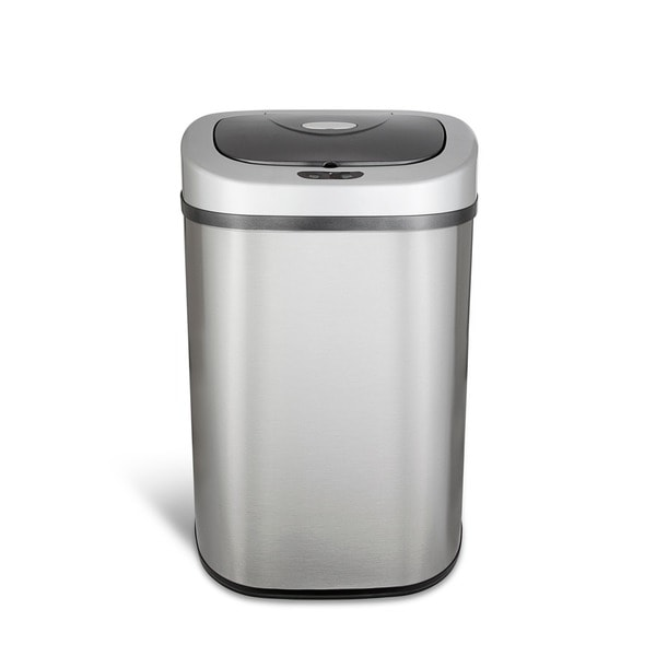 Shop Nine Stars Stainless Steel 211 Gallon Motion Sensor Trashcan