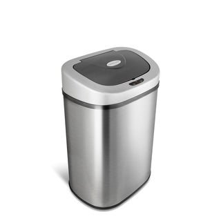 Nine Stars 21.1-gallon Motion Sensor Stainless Steel Trashcan