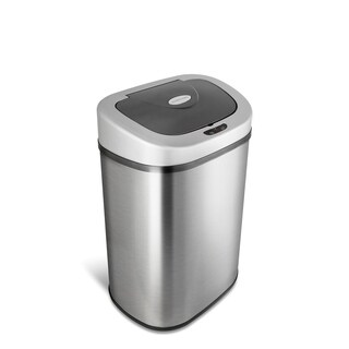 Nine Stars Stainless Steel 21.1-gallon Motion Sensor Trashcan