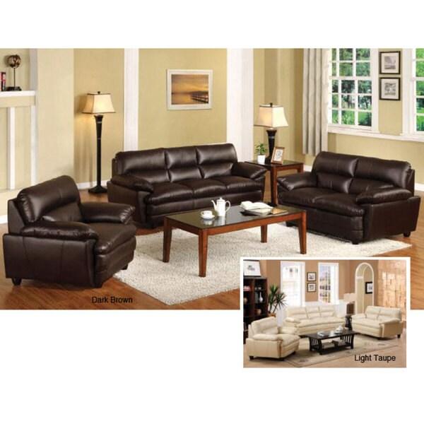 100 bonded leather sofa set american eagle ae208 yo br 2pcs