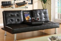 Furniture of America Yorkville Modern Bicast Leather Sofa/ Sofabed with Drop-down Tray - Thumbnail 2