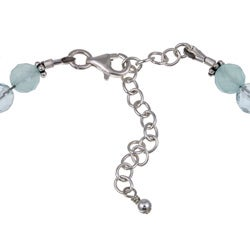Lola's Jewelry Sterling Silver Aquamarine and Chalcedony Necklace - Thumbnail 1