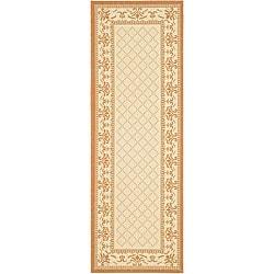 Safavieh Royal Natural/ Terracotta Indoor/ Outdoor Runner (2'4 x 9'11)