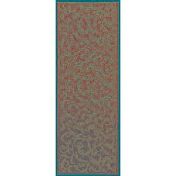 Safavieh Indoor/ Outdoor Mayaguana Terracotta/ Natural Runner (2'4 x 9'11)