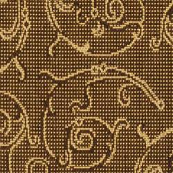 Safavieh Oasis Scrollwork Brown/ Natural Indoor/ Outdoor Runner (2'4 x 9'11) - Thumbnail 2