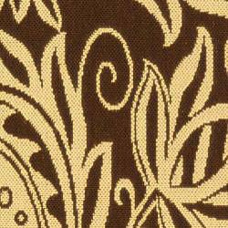Safavieh Indoor/ Outdoor Andros Chocolate/ Natural Runner (2'4 x 9'11)