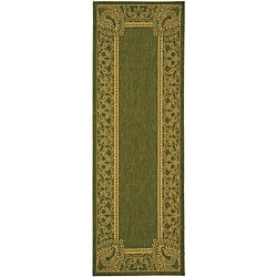 Safavieh Abaco Olive Green/ Natural Indoor/ Outdoor Runner (2'4 x 9'11)