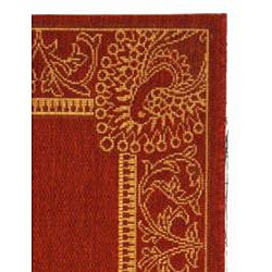 Safavieh Abaco Red/ Natural Indoor/ Outdoor Runner (2'4 x 9'11) - Thumbnail 1