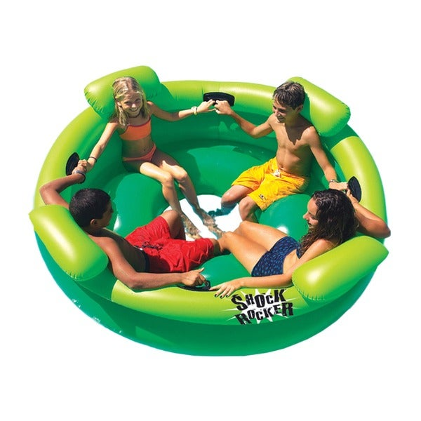 shop swimline shock rocker inflatable pool toy free shipping today 4767925