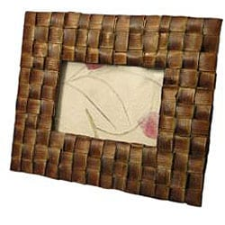 Handmade Woven Palm Leaf 3x5-inch Picture Frame (Thailand) - Thumbnail 1