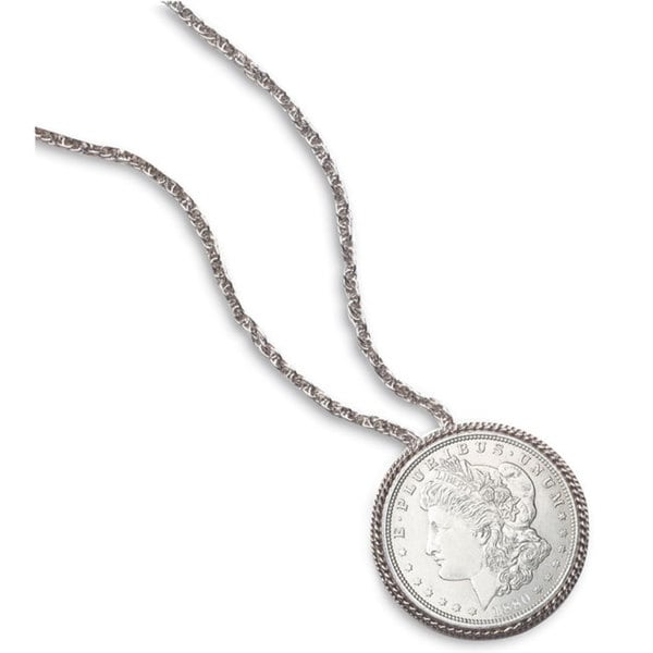 American Coin Treasures Morgan Silver Dollar Pin/ Pendant