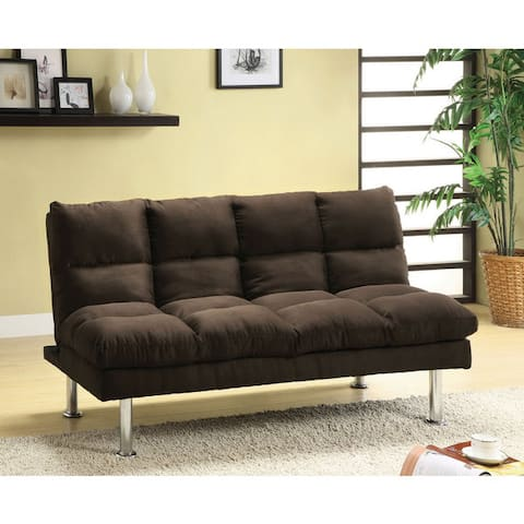 Furniture of America Tisc Contemporary Fabric Upholstered Futon