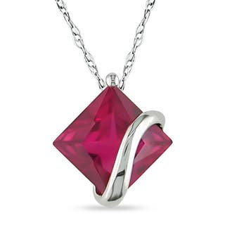 Miadora 10k White Gold Created Ruby Necklace|https://ak1.ostkcdn.com/images/products/4768168/P12670297.jpg?impolicy=medium