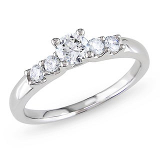 Miadora 14k Gold 1/2ct TDW Diamond Engagement Ring