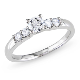 Miadora 14k Gold 1/2ct TDW Diamond Engagement Ring