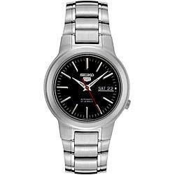 Seiko Men's SNKA07 Automatic Stainless Steel Watch https://ak1.ostkcdn.com/images/products/4768366/Seiko-Mens-SNKA07-Automatic-Stainless-Steel-Watch-P12670452.jpg?impolicy=medium