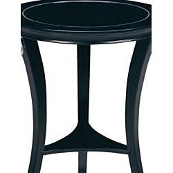 Ebony Finish Wood Round Accent Table