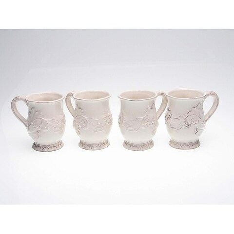 Certified International Firenze Ivory 16-oz Mugs (Set of 4)