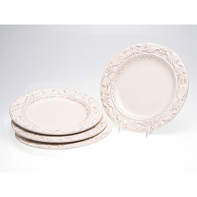 Certified International Firenze Ivory 11.5-inch Dinner Plate (Set of 4)