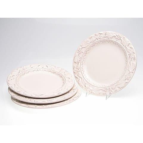 Certified International Firenze Ivory 11.5-inch Dinner Plates (Set of 4)