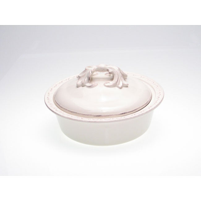 Certified International Firenze Ivory 2.5-quart Lidded Round Baking Dish
