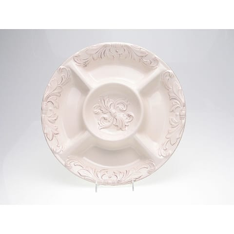 Certified International Firenze Ivory 15.25-inch 5-section Chip/ Dip Server
