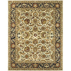 Safavieh Handmade Classic Heirloom Ivory/ Navy Wool Rug - 9'6 x 13'6 - Thumbnail 0